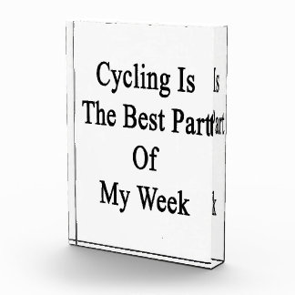 El ciclo es la mejor parte de mi semana