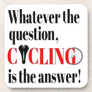 El ciclo es la respuesta posavasos de bebidas