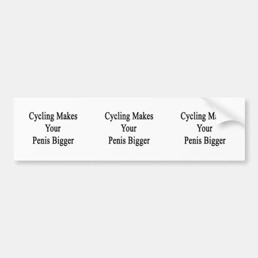 El ciclo hace su pene más grande pegatina para auto