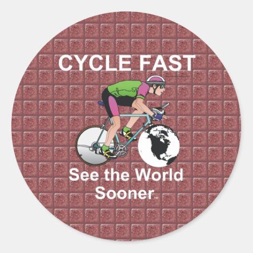 El ciclo SUPERIOR ayuna Pegatina Redonda