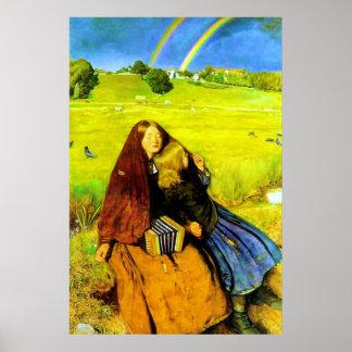 El ~ ciego John Everett Millais del chica Póster