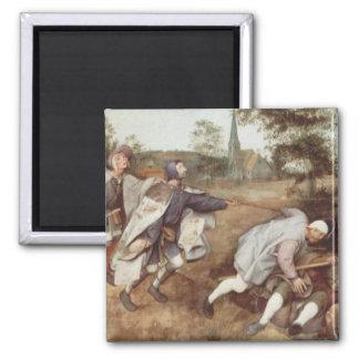 El ciego llevando las persianas - 1568 imán cuadrado