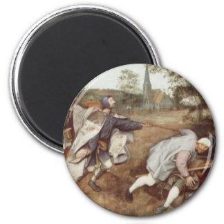 El ciego llevando las persianas - 1568 imán redondo 5 cm