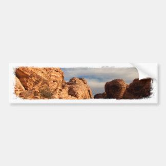 El cielo azul de BLUSK resuelve la roca roja Etiqueta De Parachoque