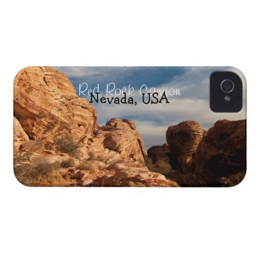 El cielo azul de BLUSK resuelve la roca roja Case-Mate iPhone 4 Carcasa