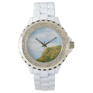 El cielo azul personalizado de los relojes se