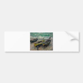El cielo de Claude Monet se nubla el océano del ma Etiqueta De Parachoque