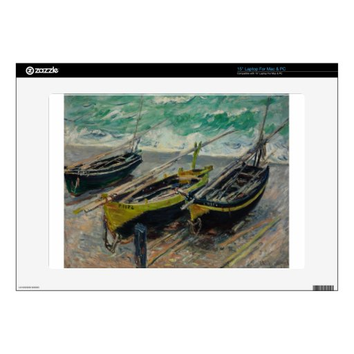 El cielo de Claude Monet se nubla el océano del ma Skins Para 38,1cm Portátiles