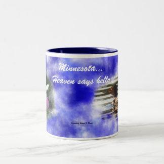 El cielo de Minnesota… dice hola Tazas De Café