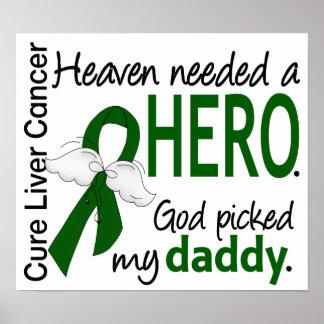 El cielo del cáncer de hígado necesitó a un papá póster