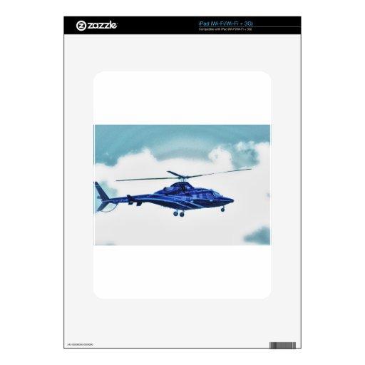 El cielo del helicóptero se nubla la taza de la ca skins para eliPad