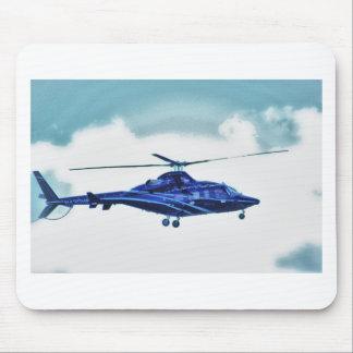 El cielo del helicóptero se nubla la taza de la ca alfombrillas de ratón