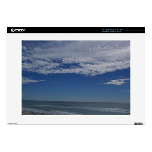 el cielo del océano del mar se nubla agua-aire portátil calcomanía