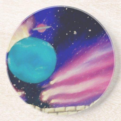 El cielo del universo del espacio de Neptuno prota Posavasos Personalizados
