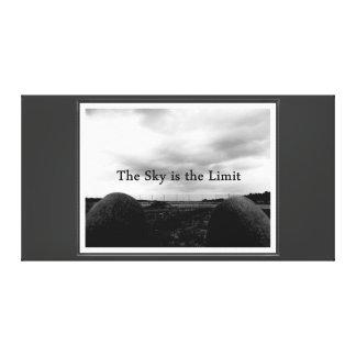el cielo es el límite lona estirada galerías