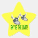 El cielo es el límite calcomania cuadrada personalizada