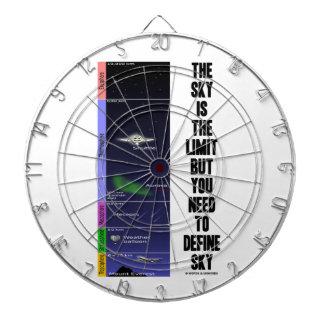 El cielo es el límite pero usted necesidad de defi tabla dardos