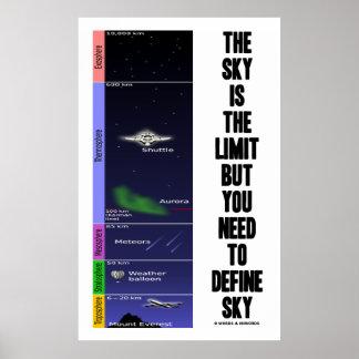 El cielo es el límite pero usted necesidad de póster