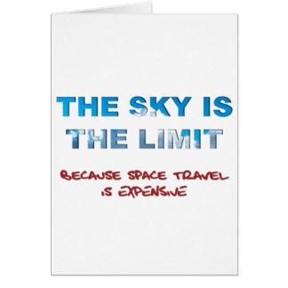 El cielo es el límite tarjeta de felicitación