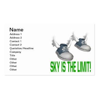 El cielo es el límite tarjetas de visita
