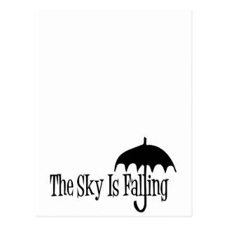 El cielo es negro y blanco descendentes del tarjetas postales