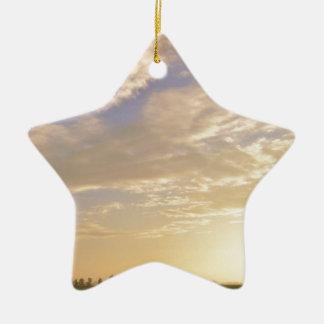 El cielo está cayendo ornamento para arbol de navidad