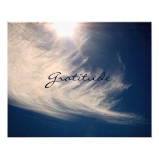 El cielo hermoso y la gratitud inspira fotografías