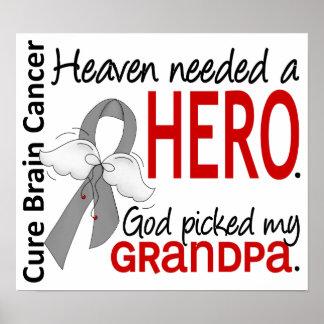 El cielo necesitó a un abuelo del cáncer de cerebr poster
