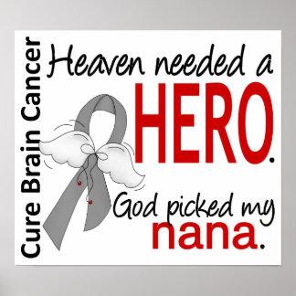 El cielo necesitó a un cáncer de cerebro del héroe posters