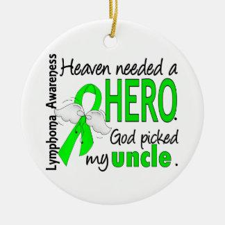 El cielo necesitó a un tío Lymphoma del héroe Ornamentos De Navidad