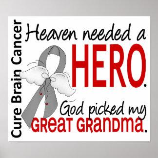 El cielo necesitó abuela del cáncer de cerebro del poster