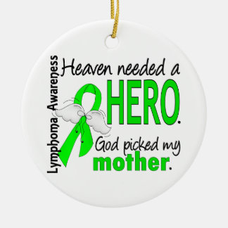 El cielo necesitó un linfoma de la madre del héroe adorno de navidad