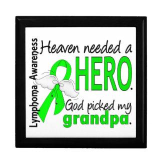 El cielo necesitó un linfoma del abuelo del héroe caja de recuerdo