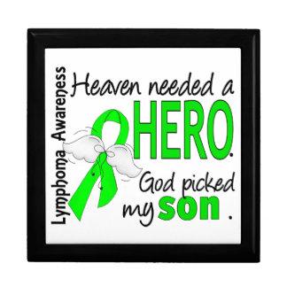 El cielo necesitó un linfoma del hijo del héroe cajas de recuerdo