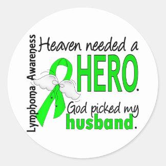 El cielo necesitó un linfoma del marido del héroe pegatina redonda
