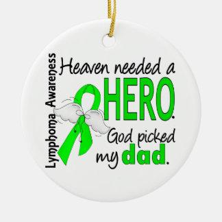 El cielo necesitó un linfoma del papá del héroe adornos de navidad