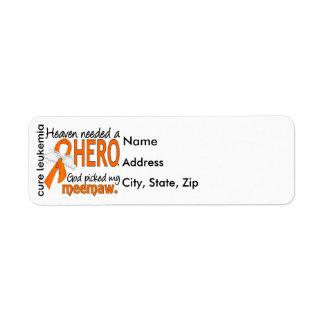 El cielo necesitó una leucemia de Meemaw del héroe Etiquetas De Remite