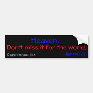 El cielo, no lo falta para el mundo pegatina para coche