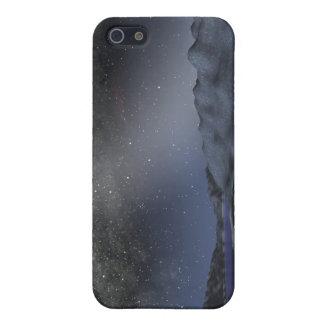 El cielo nocturno de un planeta extranjero iPhone 5 carcasas