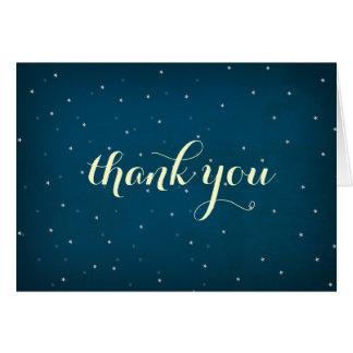 El cielo nocturno estrellado le agradece cardar tarjeta de felicitación