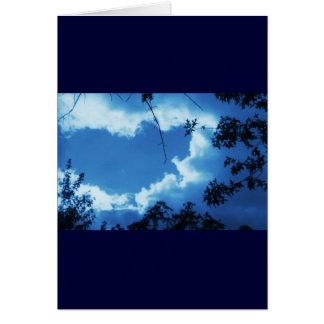 El cielo rancio tarjeta de felicitación