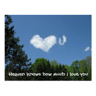 El cielo sabe cuánto te amo postales