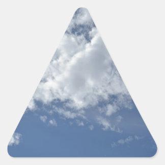 El cielo se nubla destino azul del amor de la paz colcomanias trianguladas personalizadas