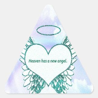 El cielo tiene un nuevo ángel calcomanía trianguloada