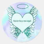 El cielo tiene un nuevo ángel pegatina redonda