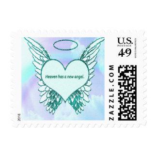 El cielo tiene un nuevo ángel timbre postal