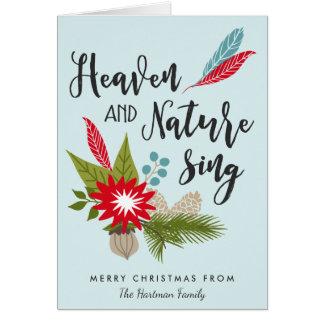 El cielo y la naturaleza cantan la tarjeta de