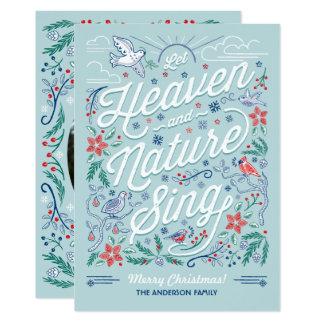 """El cielo y la naturaleza cantan la tarjeta de invitación 5"""" x 7"""""""