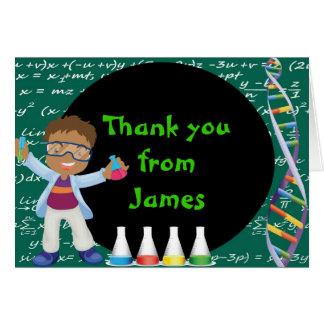 El científico afroamericano del muchacho le agrade felicitación