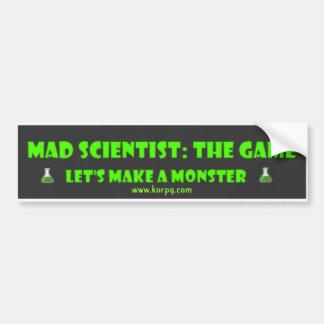 El científico enojado de KORPG nos dejó hacer un S Pegatina Para Auto